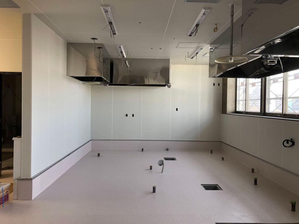 厨房の床工事