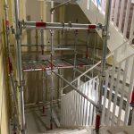 階段室のクロス工事