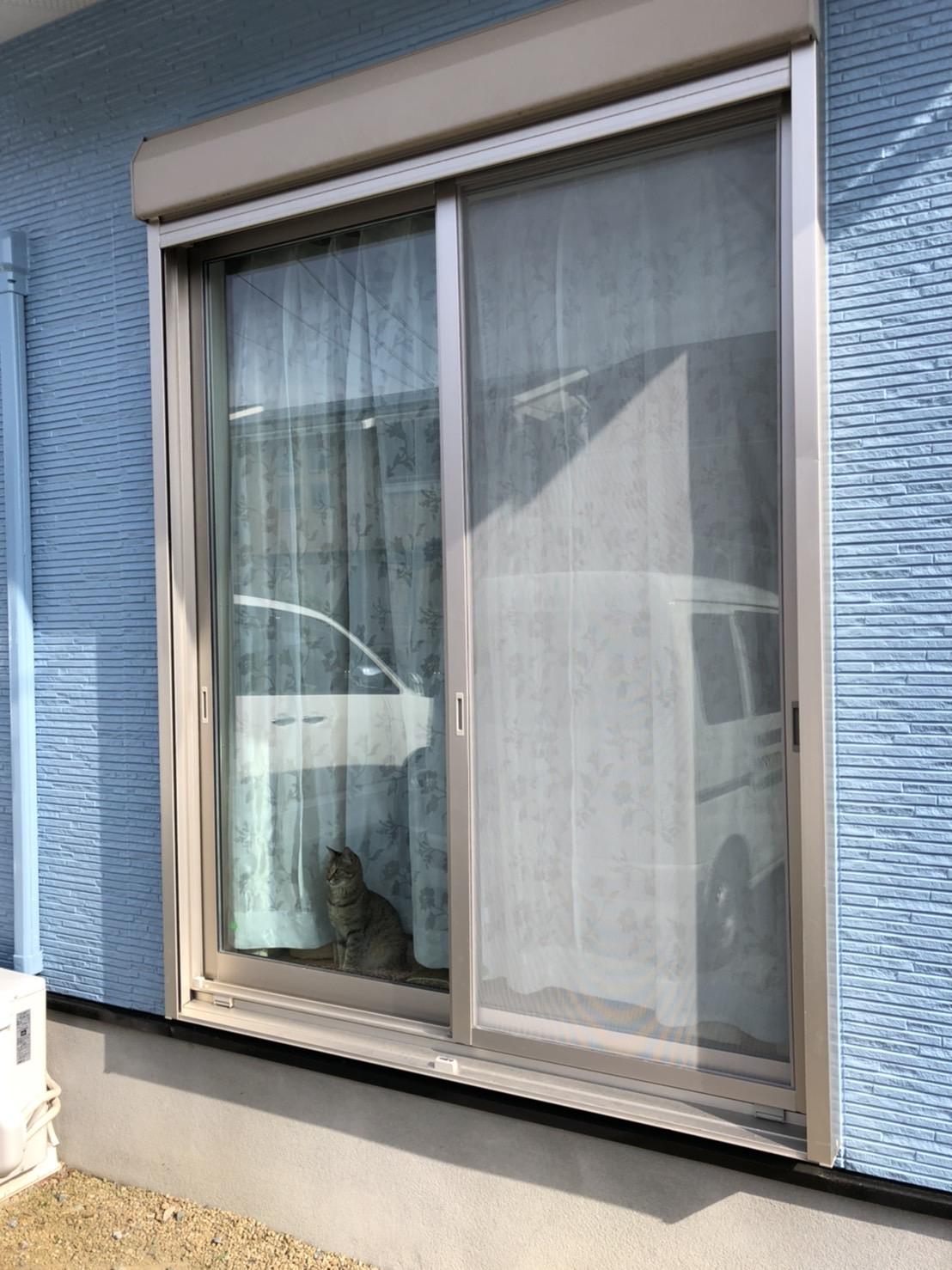 【網戸】工事(Screen door)