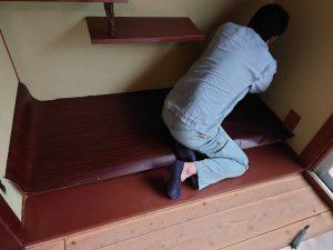 【内装工事】床地板が綺麗に