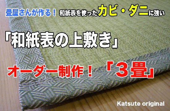 【上敷き】3畳 和紙の上敷き
