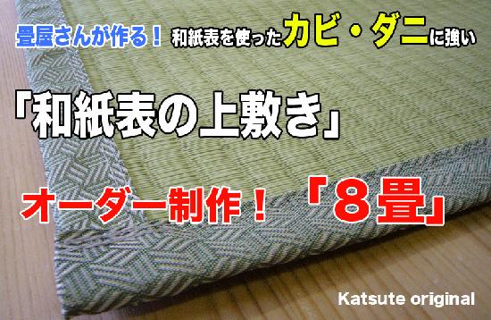 【上敷き】8帖 和紙の上敷き