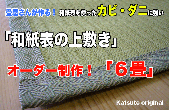 【上敷き】6帖 和紙の上敷き