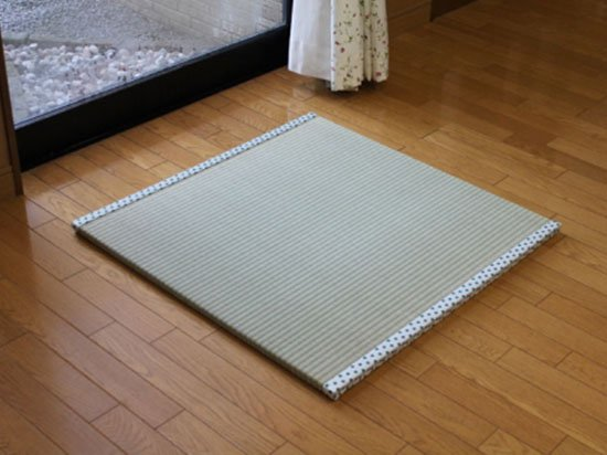 【置き畳】ポルカ白緑